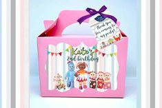 In the night garden boxes pastel pink Vibrant Colors, Colours, Night Garden, Personalised Box, Party In A Box, Garden Boxes, Party Treats, Color Card, Pick One