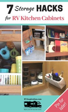 7 Organization Hacks for RV Kitchen Cabinets - Camping