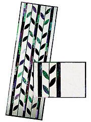 Quilt - Quick & Easy Patterns - Table Toppers - Fallen Leaf Table Runner & Placemat Pattern