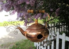 copper tea kettle bird house | fun small crafts | Pinterest | Copper on porcelain bird houses, spoon bird houses, tree bird houses, coffee bird houses, book bird houses, kettle bird houses, watering can bird houses, basket bird houses, flower bird houses, christmas bird houses, clock bird houses, tea cup bird feeder poem, really easy bird houses, easy to make bird houses, silver bird houses, cream bird houses, teacup bird houses, vintage bird houses, pan bird houses, box bird houses,