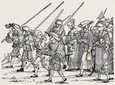 Artist: Beham, Hans Sebald, Title: »Heerestross«, Detail: Buben und Frauen, Date: ca. 1530