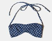DOTS Bandeau TOP ONLY - Swimsuit - Swimwear - Women Bathing suit - Bikini - High waist