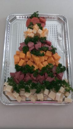 Christmas Tree Meat & Cheese Tray