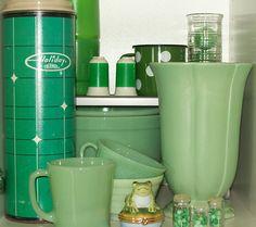 Vintage Green, Jadite glass