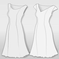 in Damen Sommerkleid Linie für A gratis SchnittmusterKleid c35RjLq4A