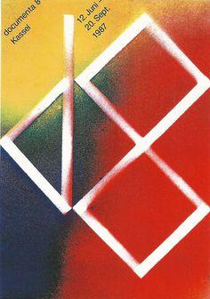 Karl Oskar Blase, poster design for art exhibition documenta 8, 1987. Kassel, Germany