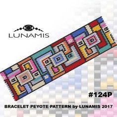 Peyote bracelet pattern, odd count, peyote pattern, stitch pattern, pdf file, pdf pattern, #109P by LunamisBeadsPatterns on Etsy