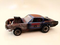 1 25 67 Ford Mustang Funny Car 427 GT Custom Weathered Unrestored Junkyard AMT | eBay