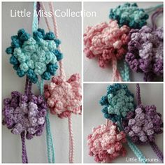 Little Treasures: Anemone Headbands in crochet