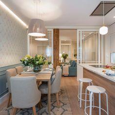 Dining Room Design, Kitchen Design, Art Deco Home, Small Dining, White Furniture, Home Decor Kitchen, Sweet Home, Interior Design, Decoration
