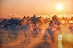 Sea Magic by Rosen Velinov (coast of Finland) Small Island, Arctic, Finland, Coast, Magic, Sea, Mountains, Sunset, World