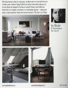 Joy Moyler, African American Interior Designers