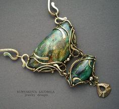 Multi stone wire wrapped pendant