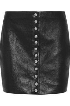 Versus Leather mini skirt | NET-A-PORTER