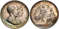 Franz Joseph I Medal by C. Lange, for the birth of Archduchess Sophie. Holy Roman Empire, Sissi, Lorraine, Austria, Joseph, Birth, Coins, House, Coining