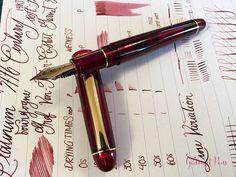 Review Platinum #3776 Century Bourgogne Fountain Pen - Soft-Fine @PenChalet @CarolLuxury (3)