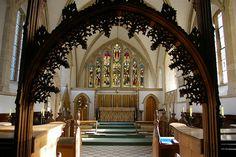 Rood screen and chancel - St Nicholas Church, Blakeney, Norfolk