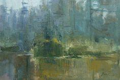 """River Study by Simon Addyman Oil ~ 12"""" x 15"""""""