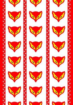 Grandparents always had fox candies. Cool Patterns, Textures Patterns, Print Patterns, Textile Design, Fabric Design, Print Design, Ikea Fabric, Marimekko, Scandinavian Design