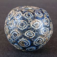 Ancient (medieval Islamic period) Middle Eastern mosaic glass bead. 800 to 1000 AD. From Fustat (old Cairo). | 124.95$ ~ Sold