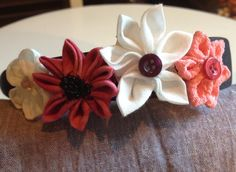 Floral headband by AFlowerforRose on Etsy, $8.95
