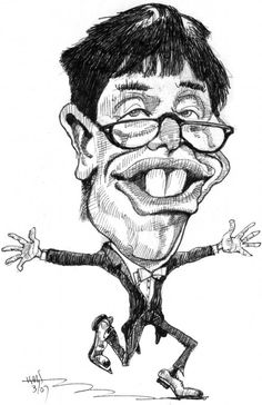 Jerry Lewis by the caricature art of Gene Haas