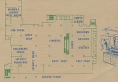 A circa pamphlet featuring the new layout of Robertson's Department Store in South Bend, Indiana South Bend Indiana, Back Home, Flooring, Map, Second Floor, Childhood, Infancy, Location Map, Wood Flooring