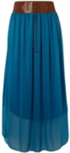 Sodamix belted boho maxi skirt with elasticated waistband and string detail. length 101 cm