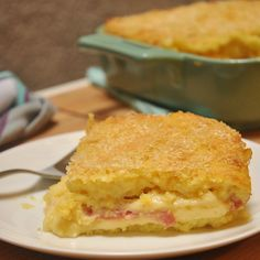 """Potato Focaccia from Puglia (cheesy makshed potato """"sandwich"""" filled with ham & more cheese)"""