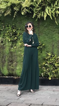 Brunch ? 💚 Green jumpsuit
