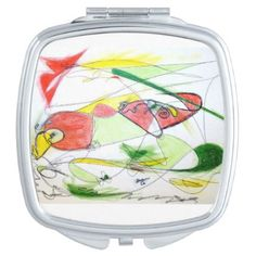 Bird Flying Cosmetic Mirror - red gifts color style cyo diy personalize unique