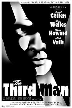 The Third Man - poster by La Boca, Starring JosephCotton OrsonWelles TrevorHoward  & AlidaValli  http://a248.e.akamai.net/origin-cdn.volusion.com/prakm.mcyzp/v/vspfiles/photos/LBTMV-2.jpg
