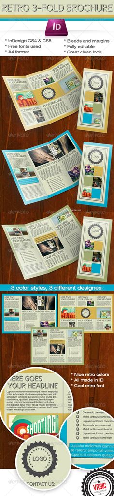 Vintage Clothing Tri Fold Brochure Template Design  Stocklayouts