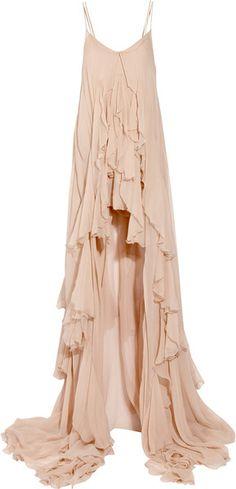 Peignoir Convertible Silk-chiffon Gown