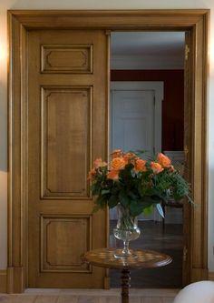 Note door casing trim - oak door by Lefevre Interiors, Belgium