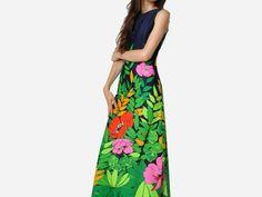 Vintage Lee Stevens Jungle Print Dress