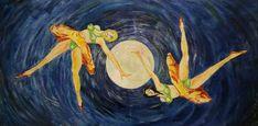 Oil On Canvas, Original Artwork, Moon, Dance, Facebook, Gallery, Artist, Painting, La Luna