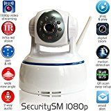 SecuritySM – 1080p INTERNET SECURITY CAMERA – WiFi security camera, plug and play, pan/tilt 2-way audio Night vision Motion detection MicroSD 32G IP camera   1080p Ultra clear High Definition image. Easy setup. WiFi (2.4 GHz) or cable network connection. No complicated wiring....