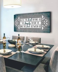 Christian Wall Art: Bless The Food (Wood Frame Ready To Hang) Kitchen Room Design, Kitchen Wall Art, Home Wall Art, Wall Art Decor, Room Decor, Bless The Food, Christian Wall Art, Christian Signs, Kitchen Decor Themes