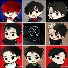 EXO monster fan art by Lay's hands Kpop Drawings, Cute Drawings, Exo Cartoon, Exo Monster, Exo Red Velvet, Exo Fan Art, Cute Monsters, Kpop Fanart, Love Art