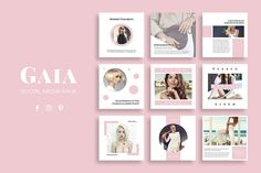 Gaia Social Media Pack by SlideStation on @creativemarket