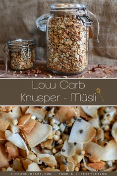Healthy crispy muesli (low carb) vintage-diary Healthy crispy muesli (low carb) a healthy breakfast homemade. With nuts and chia seeds. # muesli # breakfast The post Healthy crispy muesli (low carb) vintage-diary appeared first on Star Elite. Low Carb Dinner Recipes, Low Carb Desserts, Clean Eating Recipes, Clean Eating Snacks, Diet Recipes, Healthy Recipes, Supper Recipes, Healthy Breakfasts, Sausage Recipes