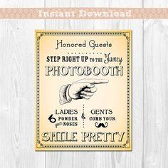 Smile Pretty  Vintage Typography Photobooth by TheBestDIYInvites, $7.50