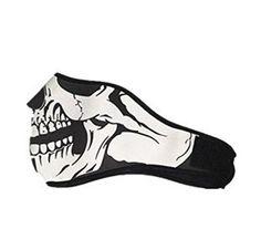 QueenTek Motorcycle Biking Ski Half Face Mask Ghost Warm Protective For Winter #QueenTek #Motorcycle #Biking #Half #Face #Mask #Ghost #Warm #Protective #Winter