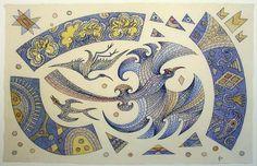 Some Birds to Guide Us - Giclee by John Bevan Ford (Estate of) Maori Designs, New Zealand Art, Nz Art, Maori Art, Community Art, Animal Paintings, Bird Art, Amazing Art, Contemporary Art