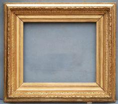 French Fluted Cove Gilt Frame, circa 1860-75