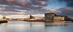 Harpa Concert & Conference Centre, Iceland, Reykjavik by Henning Larsen Architects. Facade of Harpa by Studio Olafur Eliasson as Facade designer. Henning Larsen, Studio Olafur Eliasson, Top 10 Hotels, Hall Design, Commercial Architecture, Concert Hall, Contemporary Architecture, Facade, Exterior