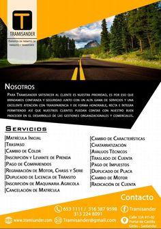 Nuestros servicios #Asesorias #Tramites #Transito #Tramisander #Santander #Servicios #Bucaramanga www.tramisander.com