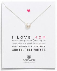 I love mom pearl keepsake necklace at a fantastic price for Mother's Day gifts | Nordstrom