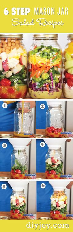 Mason Jar Salad Recipes - Recipes in A Jar and Easy Lunch Ideas